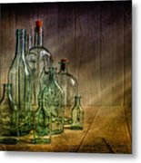 Old Bottles Metal Print by Veikko Suikkanen