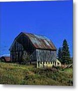 Old Broken Down Barn In Ohio Metal Print by Dan Sproul