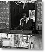 Old Burmese Smoker Woman Metal Print by RicardMN Photography