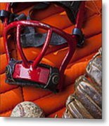 Old Catcher Mask Metal Print by Garry Gay