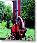 Old Farm Machinery Metal Print by Tina M Wenger
