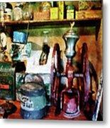 Old-fashioned Coffee Grinder Metal Print by Susan Savad