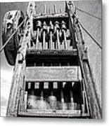 Old Gold Mine Technology In Black And White Metal Print by Lee Craig