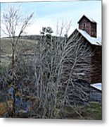 Old Grain Barn Metal Print by Steve McKinzie