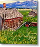 Old Homestead Near Townsend Montana Metal Print by Michael Pickett
