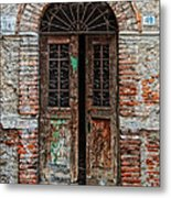 Old Italian Doorway Metal Print by Mountain Dreams