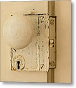 Old Lock Metal Print by Photographic Arts And Design Studio