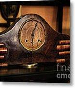 Old Mantelpiece Clock Metal Print by Kaye Menner
