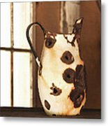 Old Metal Pitcher Metal Print by Art Block Collections