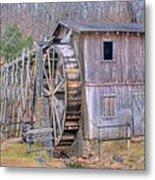 Old Mill Water Wheel And Sluce Metal Print by Douglas Barnett
