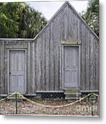 Old Post Office In Melbourne Beach Metal Print by Allan  Hughes