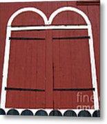 Old Red Kutztown Barn Doors Metal Print by Anna Lisa Yoder