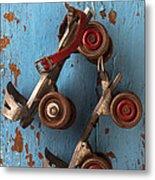 Old Roller Skates Metal Print by Garry Gay