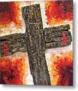 Old Rugged Cross Metal Print by Jim Ellis