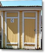 Old Sacramento California Schoolhouse Outhouse 5d25549 Metal Print by Wingsdomain Art and Photography