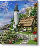 Old Sea Cottage Metal Print by Dominic Davison
