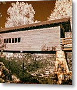Old Time Covered Bridge Metal Print by Paul W Faust -  Impressions of Light