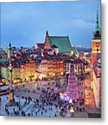 Old Town In Warsaw At Evening Metal Print by Artur Bogacki