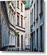 Old Town Street Metal Print by Gynt