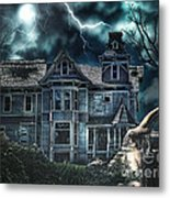 Old Victorian House Metal Print by Mo T