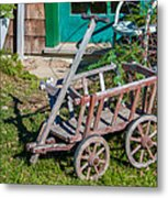 Old Wagon Metal Print by Guy Whiteley