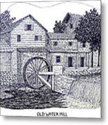 Old Water Mill Metal Print by Frederic Kohli