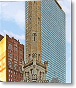 Old Water Tower Chicago Metal Print by Christine Till