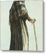 Old Woman Seen From Behind Metal Print by Vincent van Gogh