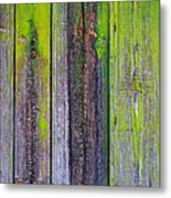 Old Wooden Background Metal Print by Carlos Caetano