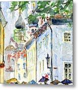 Oldtown Tallinn Estonian Metal Print by John D Benson