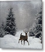 On A Snowy Evening Metal Print by Lianne Schneider