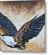 On Eagle's Wings Metal Print by Ilse Kleyn
