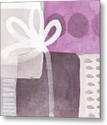 One Flower- Contemporary Painting Metal Print by Linda Woods