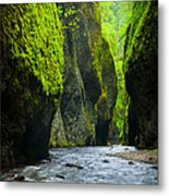 Oneonta River Gorge Metal Print by Inge Johnsson