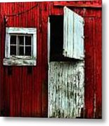Open Barn Door Metal Print by Julie Dant