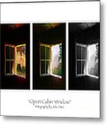Open Cabin Window Trio Metal Print by Julie Dant