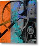 Orange And Blue  Metal Print by Ann Powell