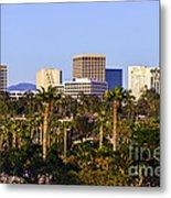 Orange County California Office Buildings Picture Metal Print by Paul Velgos