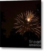 Orange Rocket Bursts Metal Print by Linda Steele