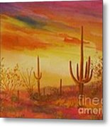 Orange Sunset Metal Print by Summer Celeste