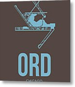 Ord Chicago Airport Poster 2 Metal Print by Naxart Studio