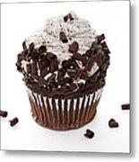 Oreo Cookie Cupcake Metal Print by Andee Design