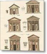 Origin And Development Of Architecture Metal Print by Splendid Art Prints