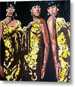 Original Divas The Supremes Metal Print by Ronald Young