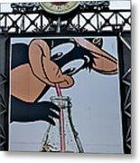 Orioles Mascot Drinks Coca Cola Metal Print by Susan Candelario