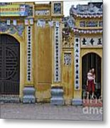 Ornate Buildings In The City Centre Of Hanoi Metal Print by Sami Sarkis