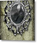 Ornate Metal Mirror Reflecting Church Metal Print by Amanda And Christopher Elwell