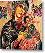 Our Lady Of Perpetual Help Icon Metal Print by Ryszard Sleczka