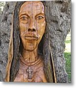 Our Lady Olive Wood Sculpture Metal Print by Eric Kempson