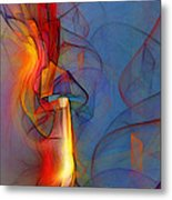 Out Of The Blue-abstract Art Metal Print by Karin Kuhlmann